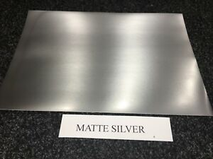 A4 SELF ADHESIVE INKJET PRINTABLE MATTE SILVER EFFECT VINYL STICKER (5 SHEETS)