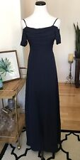 Lulus Navy Blue Bridesmaid Long Maxi Dress Small Formal Prom Party
