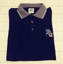 Dynasty Chicago White Sox polo shirt XL Embroidered Baseball black/gray collar