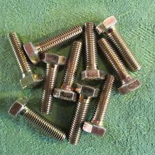 Din 933//8.8 gelb verzinkt M 7x16 NEU 10 Stück Sechskantschrauben