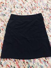 KATHMANDU WOMENS SKIRT BLACK ZIP POCKET NYLON KNEE LENGHT SZ 14