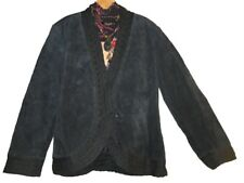 Women's outerwear Winter Church Black suede leather Coldwater Creek plus 1X $139
