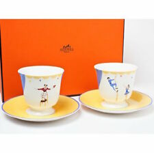 Hermes Porcelain CIRCUS Cup Saucer Tableware Ornament Interior Auth New Rare