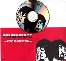 DEATH FROM ABOVE 1979 Blood On Our Hands 2004 UK 2-track promo test CD