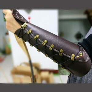 Kid Women Men Archery True Leather Arm Guard Armband Restraint Protect gear