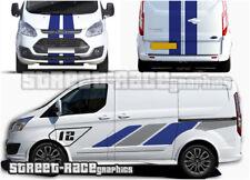 Ford Transit Custom Completo 008 Pegatinas de gráficos Rayas De Carreras calcomanías SWB LWB