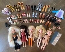BRATZ Doll & Shoe 2001 MGA lot - 5 Dolls, 25 Pairs of Shoes, etc.
