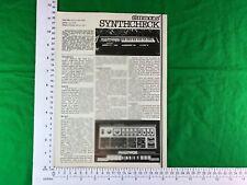 Multivox MX2000 Clavier Synthétiseur 1978 vintage Article/revue de synthétiseur