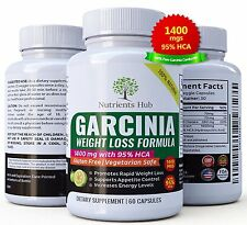 Garcinia Cambogia Extract  1400 mg only 2 capsules/day 95 HCA Pure 100% Natural