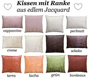 Kissenhülle Barock edle Jacquard Ranke Dekokissen in 40x40 50x50 40x60 Kissen