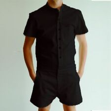 Fashion Man' s Short Sleeve Pants One Piece Shorts Jumpsuit Playsuits Rompers