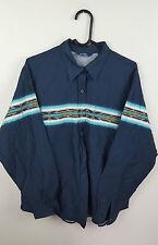 Vintage Retro para Mujer Urban RENEWAL Azteca Crazy audaz Navajo Shirt Top en muy buen estado Reino Unido L