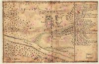Map Antique 1776 Military Wiederholt Battle Trenton Replica Canvas Art Print