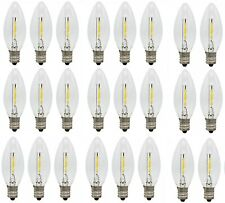 25-Pack LED Replacement Light Bulbs for Electric Candle Lamps, Window Candles,7w
