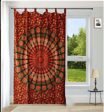 Indian mandala door window curtain boho bohemian handmade drapes hanging single