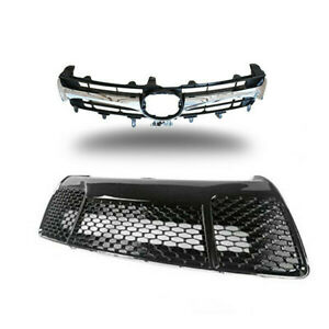 For 2015 2016 2017 Toyota Camry SE Front Upper Lower Bumper Grill Grille Chrome