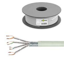 100m 0,27€/m CAT6 S/FTP PiMF Kabel Netzwerk Patchkabel Goobay Litze LAN flexibel