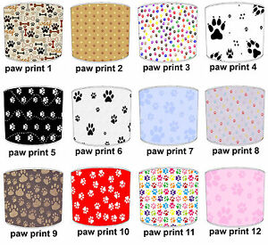Lampshades Ideal To Match Cat & Dog Paw Print Cushions & Cat Paw Print Duvets.