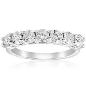 1ct Diamond Wedding Ring Prong Womens Brilliant Cut Stackable Band Jewelry