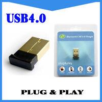 USB Bluetooth v4.0 Adapter Dongle CSR EDR PC Windows 10 8 7 Speakers Headphones