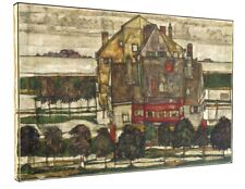 Egon Schiele - Houses in Yellow CANVAS PICTURE PRINT CHUNKY FRAME LARGE #A165