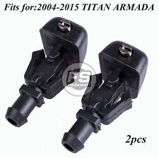 2pcs Windshield Wiper Water Spray Jet Washer Nozzle for 2004-2015 TITAN ARMADA
