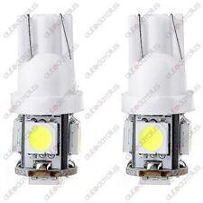 5x White T10 Wedge 5SMD 5050 LED Lisense Light bulb For Jeep Cadillac Chrysler