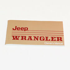 Jeep Owners Manual - 1988 or 1989 Jeep Wrangler YJ