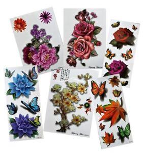 ***NEW*** Flower Flowers Temporary Tattoos - 29 designs