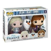Frozen 2 FUNKO Pop 3-PACK Elsa Olaf Anna 9 CM Disney Store Exclusive Figure