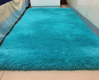 Fluffy Rugs Anti-Skid Shaggy Area Rug Dining Room Bedroom Home Carpet Floor Mat
