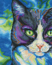 Cross Stitch Kit ~ Dmc Snowshoe Cat #Bk1570