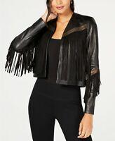 Rachel Zoe Sky Leather Lambskin Fringe Jacket NWT NEW retails $965
