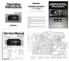 OPERATING / SERVICE MANUALS + ADVERTISEMENT for the PANASONIC RF-4800 PHOTOCOPY
