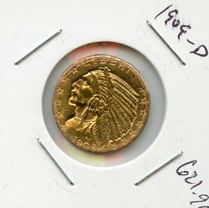 1909-D Five Dollar Gold Indian $5