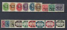 Allemagne BAVIERE BAYERN SERVICE Yv&T n° 61/78* surch Deutsches Reich Complète