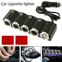 1pcs 4 Voies DC12 / 24 V Multi Socket Voiture Allume-Cigare USB Chargeur BA