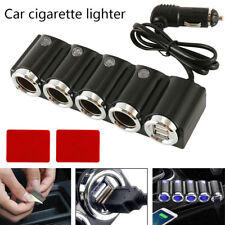 4 Way DC12/24V Multi Socket Car Cigarette Lighter Splitter USB Charger Adapt NEW