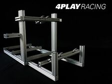 4 PLAY RACING RACE WIDE Platform Sim Rig Console BLACK ANODIZED