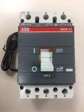 ABB SACE S3 S3N S3N100TW Circuit Breaker 3 Pole 100 AMP 600 VOLT 12VDC SHUNT