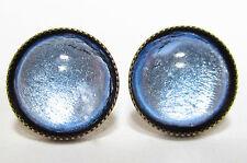 SoHo® Ohrstecker vintage bohemia Glas silver blue handgemachte Glassteine 1960´s