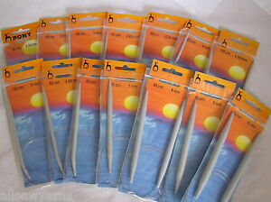 PONY Circular Knitting Needles ~ All sizes and lengths ~ 2.00mm - 25mm