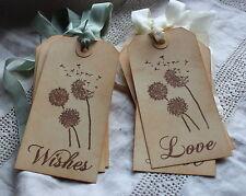 DANDELION WISHES LOVE-Wedding Wish Tree-Large Vintage Style Tags-Set of 10-FAB