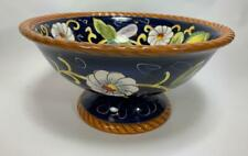 Footed Serving Bowl Tabletops Unlimited Village Bellagio Ceramica Classica 11""