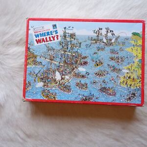 WHERES WALLY Puzzle Pirate Ship Puzzle 100 Pc Puzzle 1991 Look and Find Puzzle