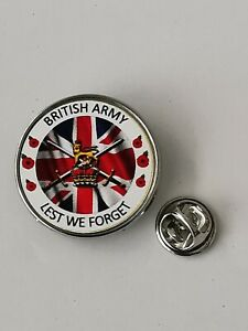 British Army lest we forget Military lapel pin badge - Key Ring  - Fridge Magnet