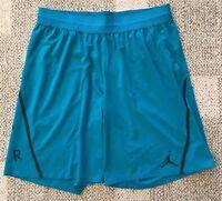 Nike Air Jordan Men's Basketball Athletic Shorts Green Size 2XL XXL 861498