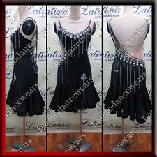 Latin Rhythm Salsa Ballroom Dance Competition Dress Size S M L (al1a3a)