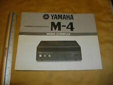 yamaha m-4 mode d'emploi  french language only owner's manual