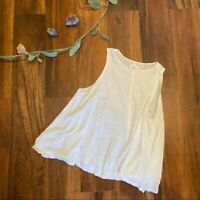 Lou & Grey White Flowy Tank Top Muscle Tee XS Great Condition
